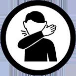 Toser sobre tu codo o pañuelo desechable
